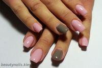Корекция ногтей гелем розовый цвет